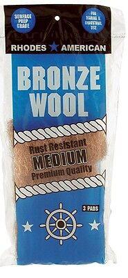 Homax 123101 Medium Grade Bronze Wool 3 Pads