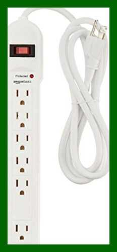 AmazonBasics 6-Outlet Surge Protector Power Strip, 790 Joule