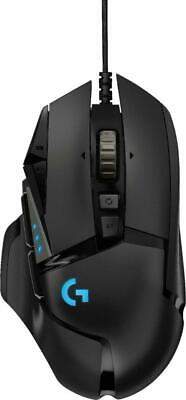 Logitech G502 HERO Wired Optical Gaming Mouse with RGB Lighting - Black *Sealed