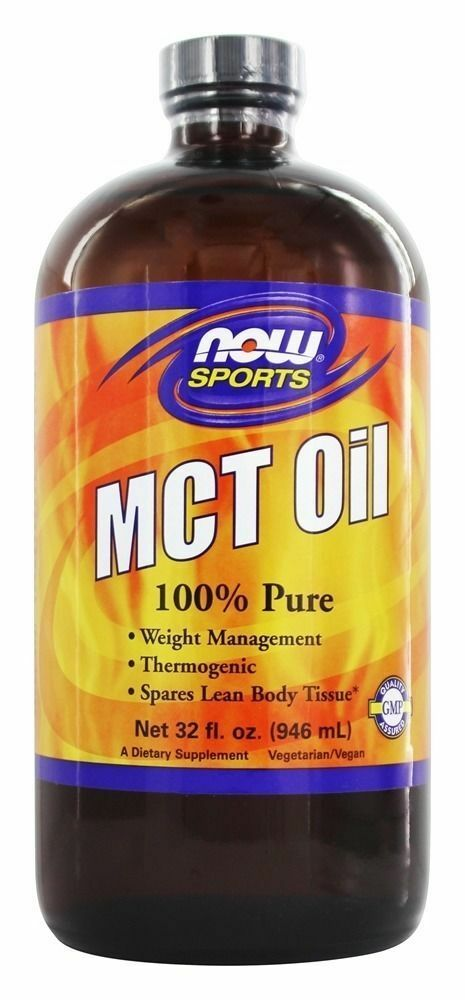 NOW Foods MCT Oil 32oz Thermogenic Coconut Oil Bullet Proof Coffee FRESH 1/2021