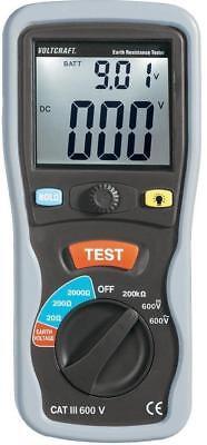 Voltcraft ET-02 digitales Erdungsmessgerät Erdwiderstandsmessgerät 584500
