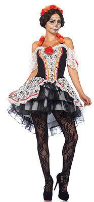Senorita Calavera Damenkostüm Deluxe NEU - Damen Karneval Fasching Verkleidung (Calavera Kostüm)