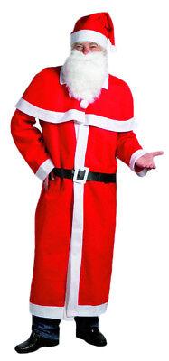 Nikolaus Weihnachtsmann Kostüm Mantel Mütze Bart 5-teilig Weihnachtsmann Set
