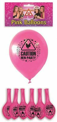 15 Hen Party Novelty Balloons 23cm Hen Party Pink Printed BUY 3 GET 1 FREE