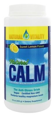 Natural Vitality Natural Calm Anti-Stress Drink Sweet Lemon Flavor 16 oz