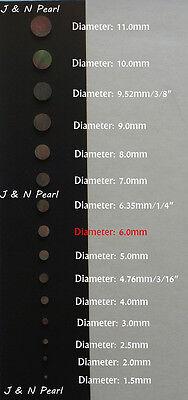 50+3pcs Free 6.0mm Black MOP Dots,Shiny,Black with Iridescence, A Grade