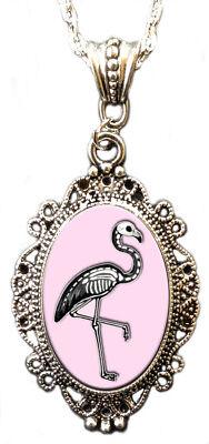 Alkemie SKELEMINGO cameo necklace flamingo skeleton beauty balance grace love (Flamingo Skeleton)