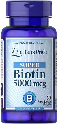 Puritan's Pride Biotin 5000 mcg – 60 Softgels
