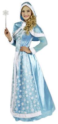 Schneekönigin Kostüm für Damen Eisprinzessin Elsa Feen Kleid - Prinzessin Kostüme Für Damen