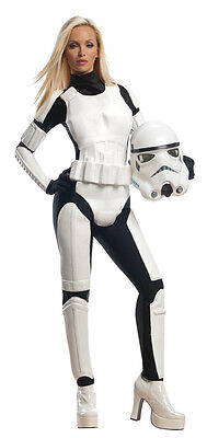 Ladies Sexy Stormtrooper +Mask Star Wars Film Fancy Dress Costume Outfit UK 6-18 (Sexy Star Wars Outfits)