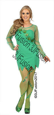 Ladies Poison Ivy Villian Toxic Temptress Forest Fairy Fancy Dress Costume (FA)