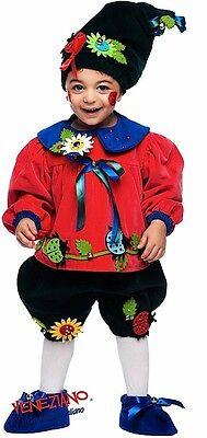Italienische Herstellung Baby Jungen Deluxe Blumentopf Gnome Kostüm Kleid - Baby Jungen Gnom Kostüm