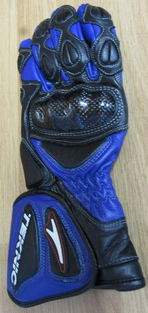 Ladies Teknic Lightning Sport Glove Blue/Black Armour Summer Motorcycle glove