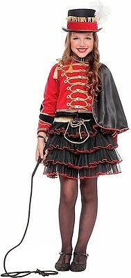 Italian Made Girls Deluxe Ringmaster Carnival Circus Fancy Dress Costume Outfit (Deluxe Ringmaster Costume)