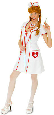 Krankenschwester Linda Kostüm Damen Schwester Ärztin Krankenhaus Party (Krankenschwester Ärztin Kostüm)
