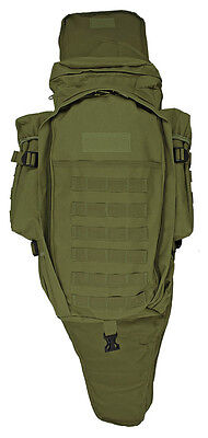NEW 9.11 Tactical MOLLE Full Gear Rifle Combo Backpack / Rifle Bag - OD GREEN