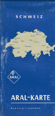 Old Aral Map Switzerland (aral20)
