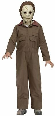 Halloween Kinder Kostüm Michael Myers inkl. Maske mit Haaren Horror-Film (Kostüm Kinder Filme)