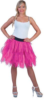 80er Jahre Tüllrock Neonpink NEU - Damen Karneval Fasching Verkleidung Kostüm