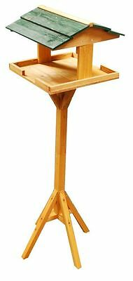 Wooden Bird Table Standing Garden Outdoor Feeding Wild Station House Stand Wood