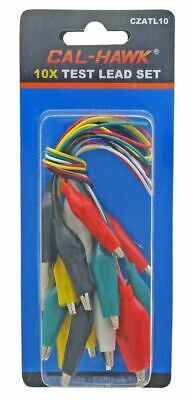 Assorted Alligator Clip Test Lead Set Electrical Connector Troubleshooting Tool