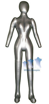 Inflatable Female Mannequin Full-size Headarms Silver