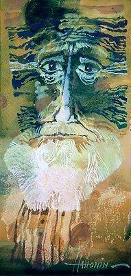 "The Leshy / Original Oil Painting by Sergej Hahonin / 25x12cm / 9.8""x4.7"""