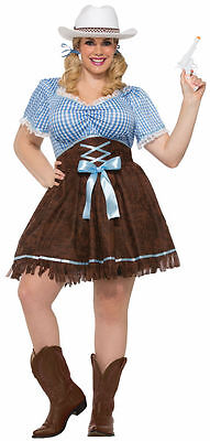 Western Adult Plus Cowgirl Costume ](Adult Western Costume)