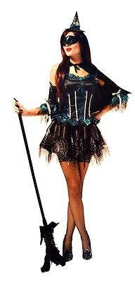 Masquerade Witch Adult Womens Costume Elegant Outfit - Elegant Witch Costume