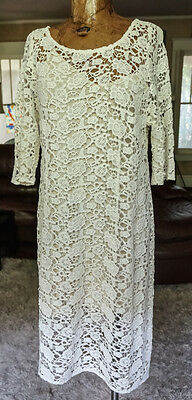 Lily Adlridge for Velvet XL stretch lace dress off white resort wedding beach