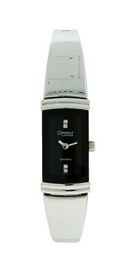 Caravelle by Bulova Diamond 43P100 Women's Black Rectangle Bangle Style (Rectangle Diamond Watch)