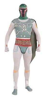 Star Wars Boba Fett Mens 2nd Skin Adult Costume, Green, Rubies - Boba Fett Adult Costume