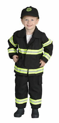 Jr. Firefighter Suit CHICAGO In Tan or Black Size Kids Medium (6-8) FB-CHI-68](Aeromax Firefighter Costume)