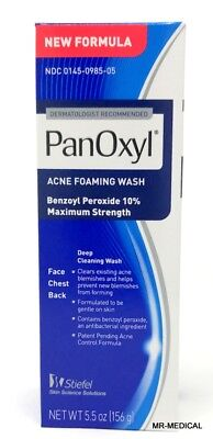 Panoxyl Benzoyl Peroxide Foaming Acne Wash 10% 5.5oz - New (Acne Wash)