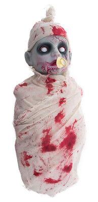 Weinendes Zombie Baby 50 cm - mit Ton und Licht - Gruselige Halloween Dekoration (Zombie Baby Dekoration)