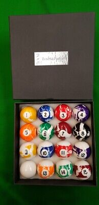 Rosetta 2 Tournament Spots and Stripes pool balls Ball set with Red spot white cue ball