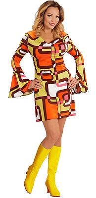 amenkostüm NEU - Damen Karneval Fasching Verkleidung Kostüm (Hippie Groovy)