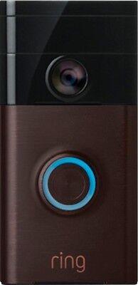 Video Doorbell WiFi Smartphone Neighborhood Watch Safety Security System Bronze