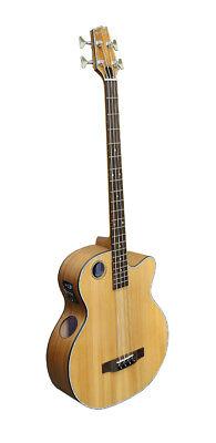 Boulder Creek EBR3-N4 Acoustic/Electric Bass Guitar--Solid Cedar Top--Free Ship!