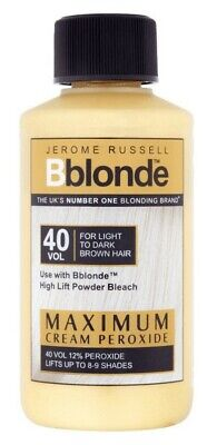 Jerome Russell Bblonde Cream Peroxide Vol.40 - For Light To Dark Brown Hair- New