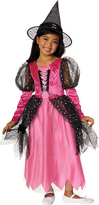 Candy Witch Gothic Princess Cute Black Pink Dress Up Halloween Child Costume
