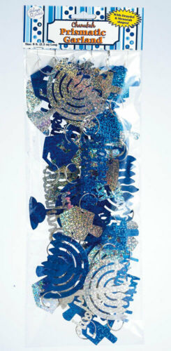 CHANUKAH PRISMATIC GARLAND - Jewish Hanukkah Holiday Decoration
