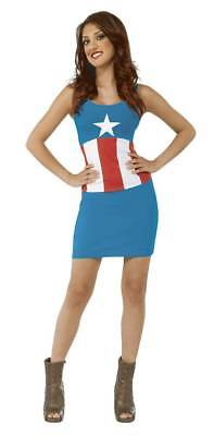MARVEL CAPTAIN AMERICA ladies TANK DRESS small  RUBIES COSTUMES COMPANY