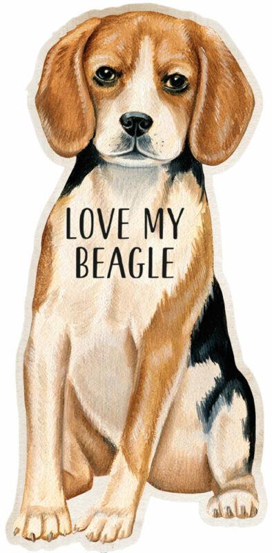 Beagle Love My Dog Shaped Magnet