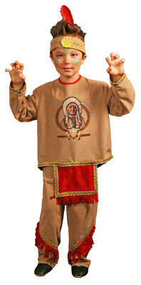 Indianer Aponivi Kostüm für Kinder - Jungen Verkleidung im Wilder Westen - Indianer Kostüm Für Jungs