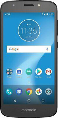 AT&T Prepaid Motorola MOTO E5 Play 16GB Memory Prepaid Cell Phone Black New NIB
