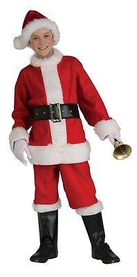 Santa Claus Flannel Suit Child Costume, Red/White, Rubies](Santa Suit Kids)