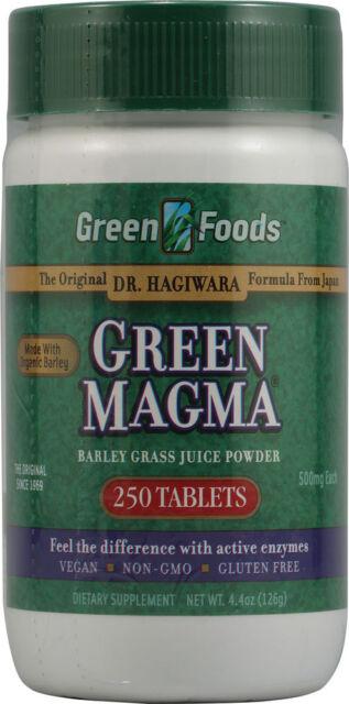 Green Magma, Barley Grass Juice Powder, 500 mg, 250 Tablets - Green Foods Corp