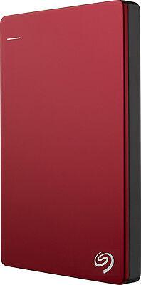 Seagate - Backup Plus Slim 1TB External USB 3.0/2.0 Portable Hard Drive - Red