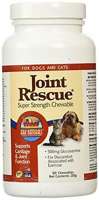 Rescue Super Strength Chewable Tablets - Ark Naturals Joint Rescue for Dogs & Cats, Super Strength, 60 Chewable Tablets,